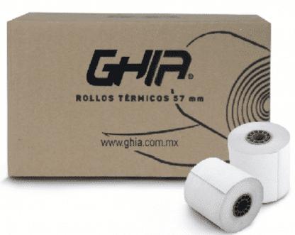 Papel Termico para impresoras de tickets 50 Pzas 57x40mm
